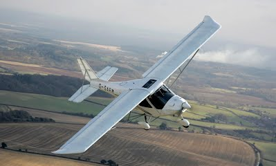 Ikarus C42 AULA aircraft flying high