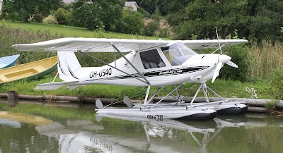 An Ikarus C42 on Floats